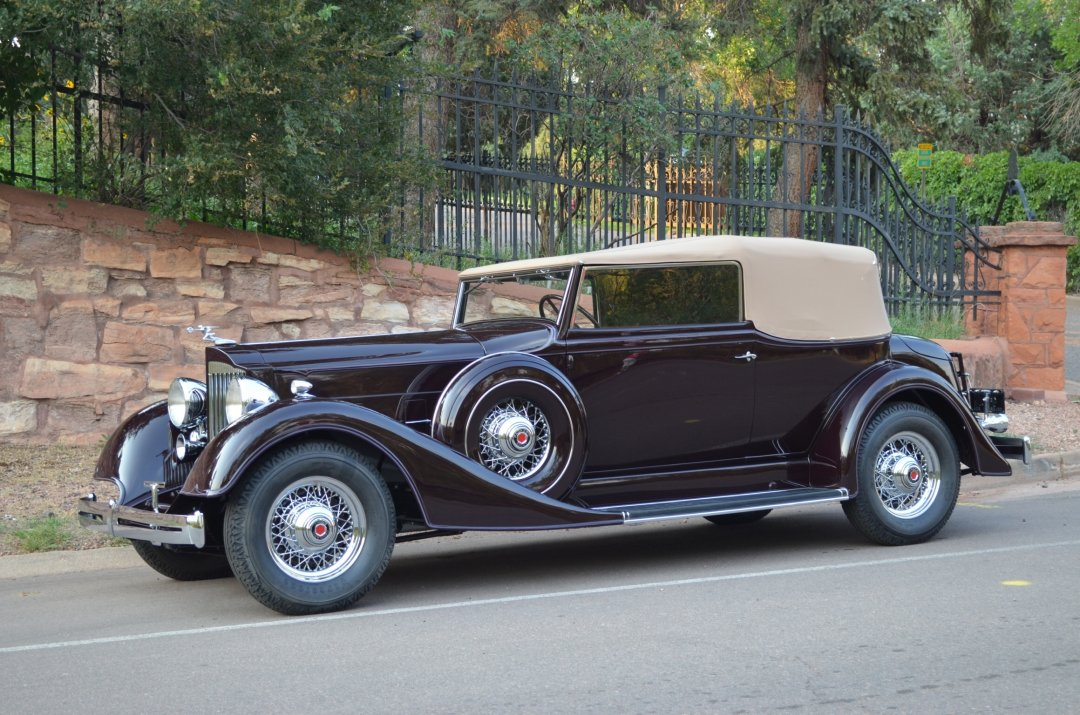 Photo of a 1934 Packard Standard 8, Semi-custom Dietrich Convertible Victoria
