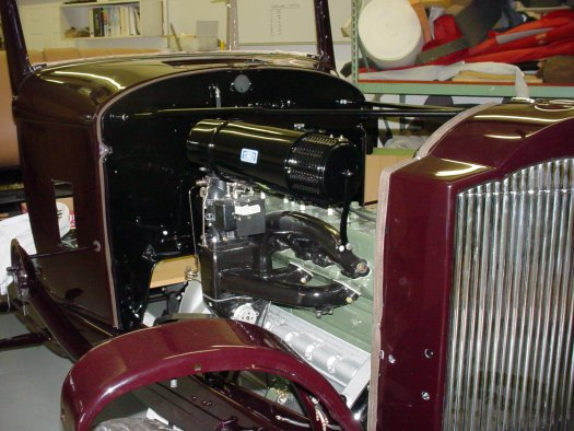 Photo of the engine install in a 1934 Packard Standard 8.